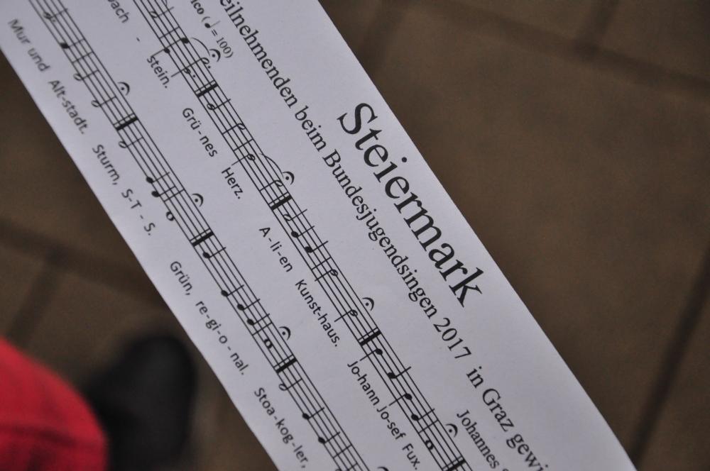 das Gemeinschaftslied für die Klangwolke