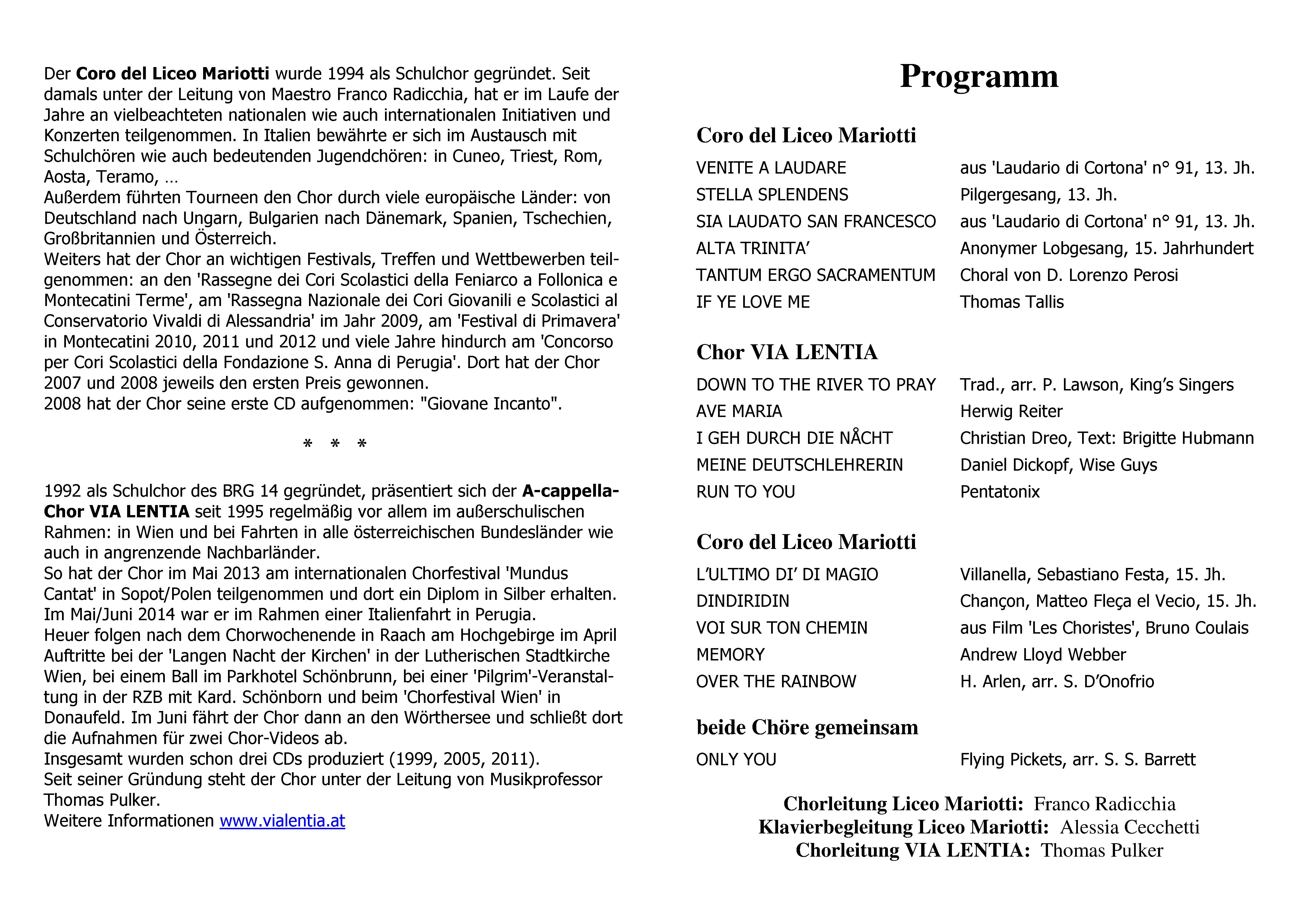 Insieme_Liceo Mariotti_Programmzettel