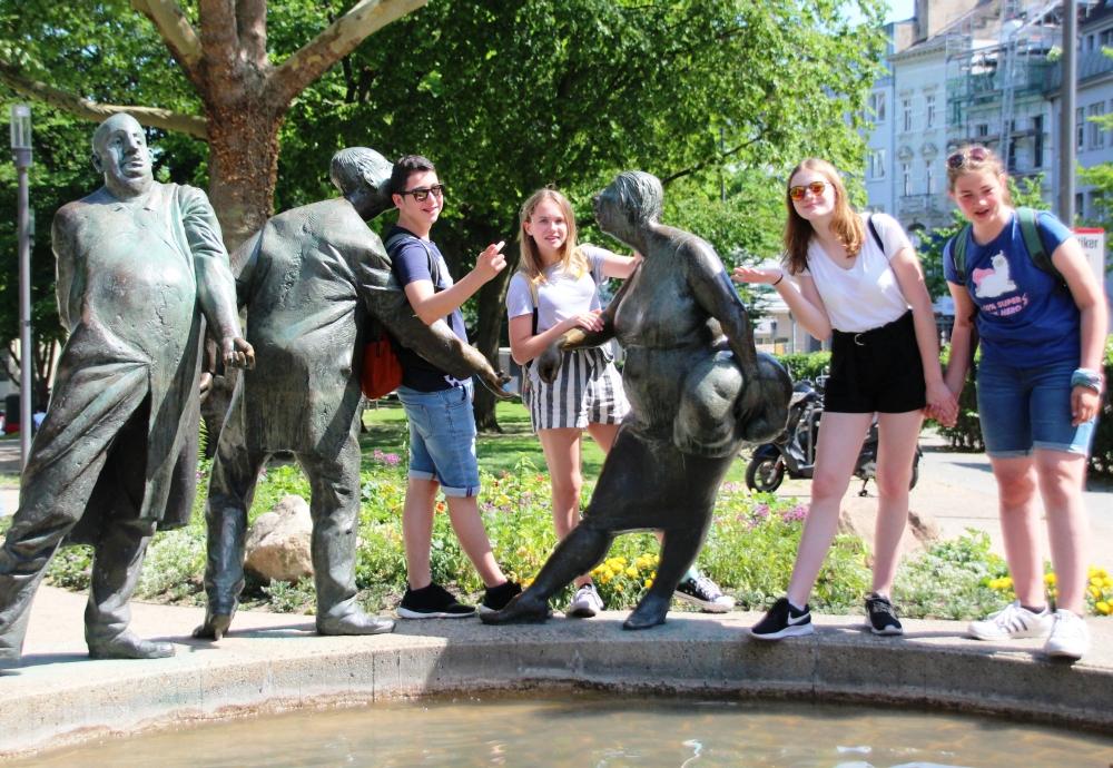 Bronzestatuen in Aachen
