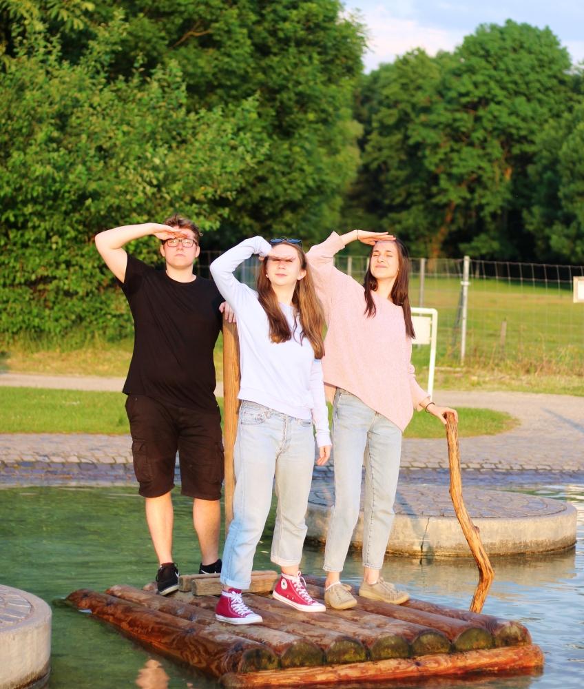Fabian, Vroni & Antonia, Brückenkopfpark Jülich