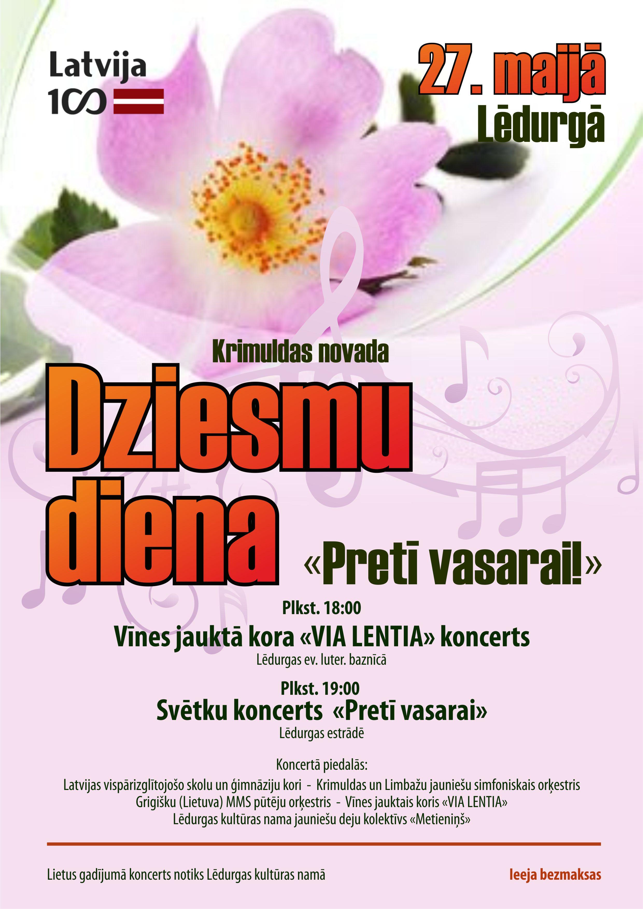 Ledurga_Event_Dziesmu diena afisa_Lettland 2017