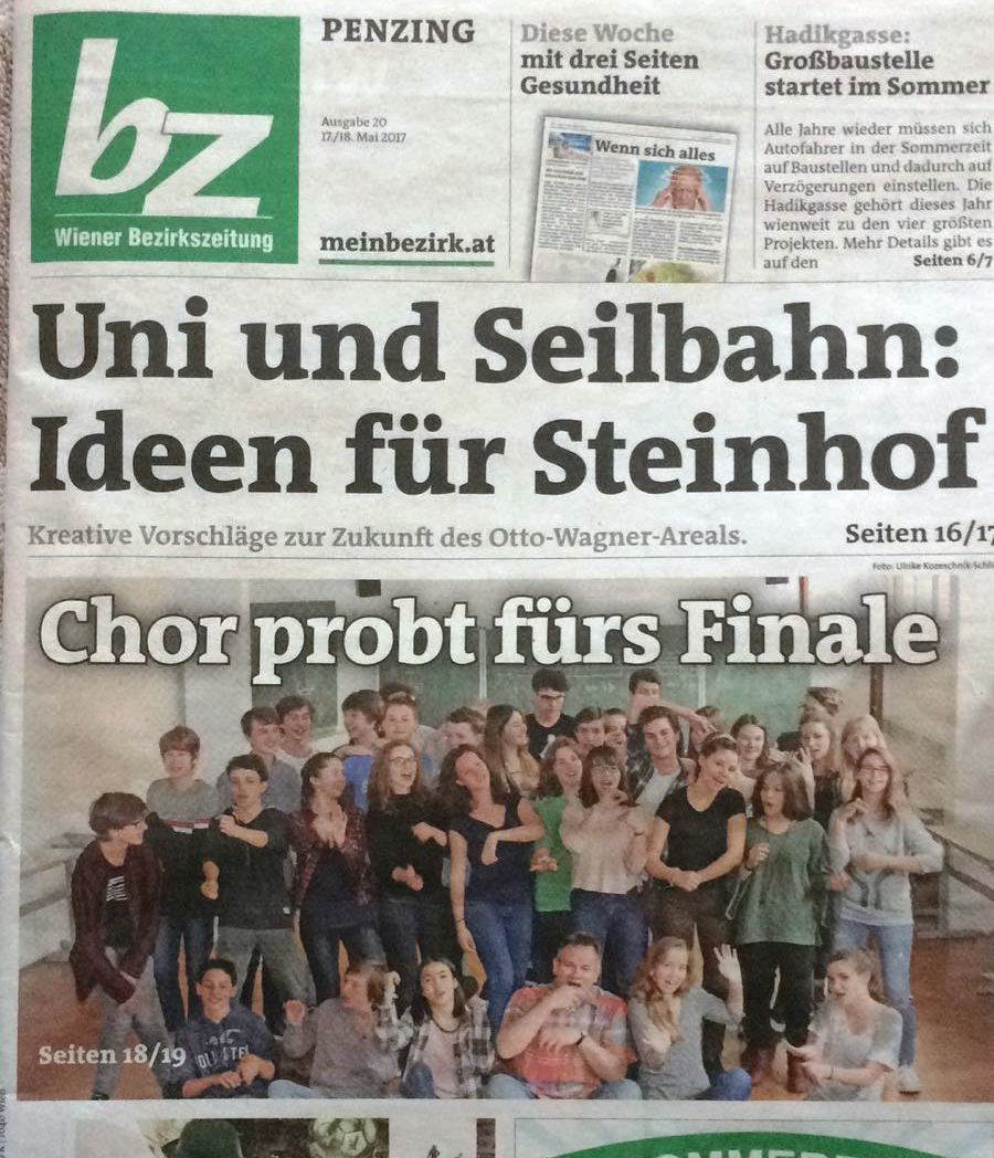 Titelblatt Bezirkszeitung Mai 2017