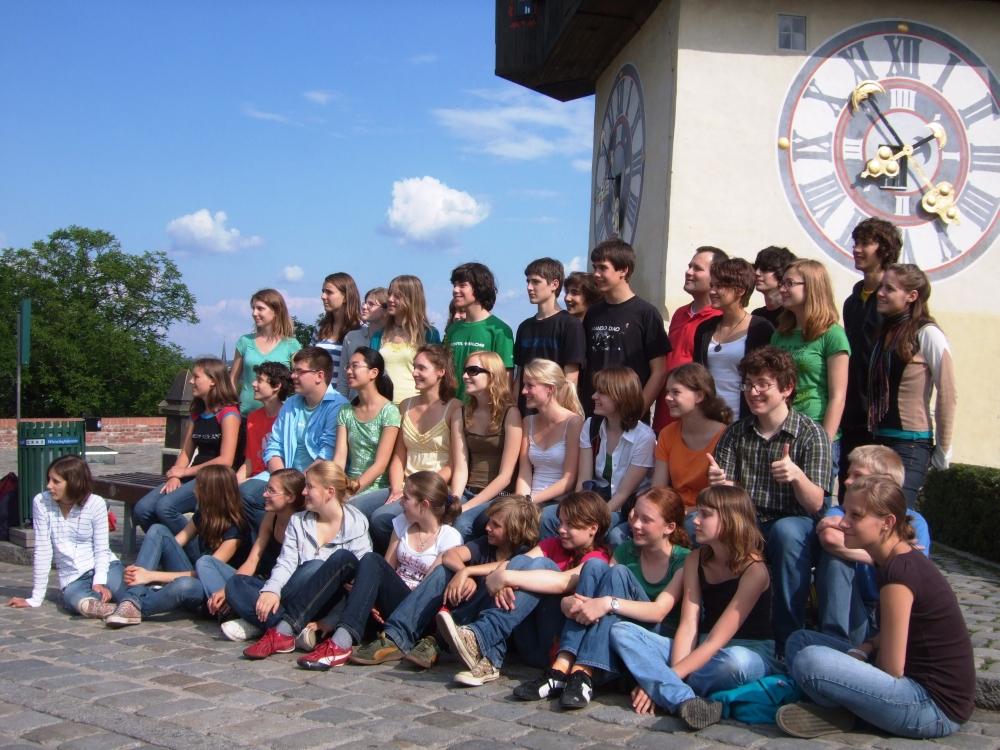 2008 Graz, vor dem Uhrturm